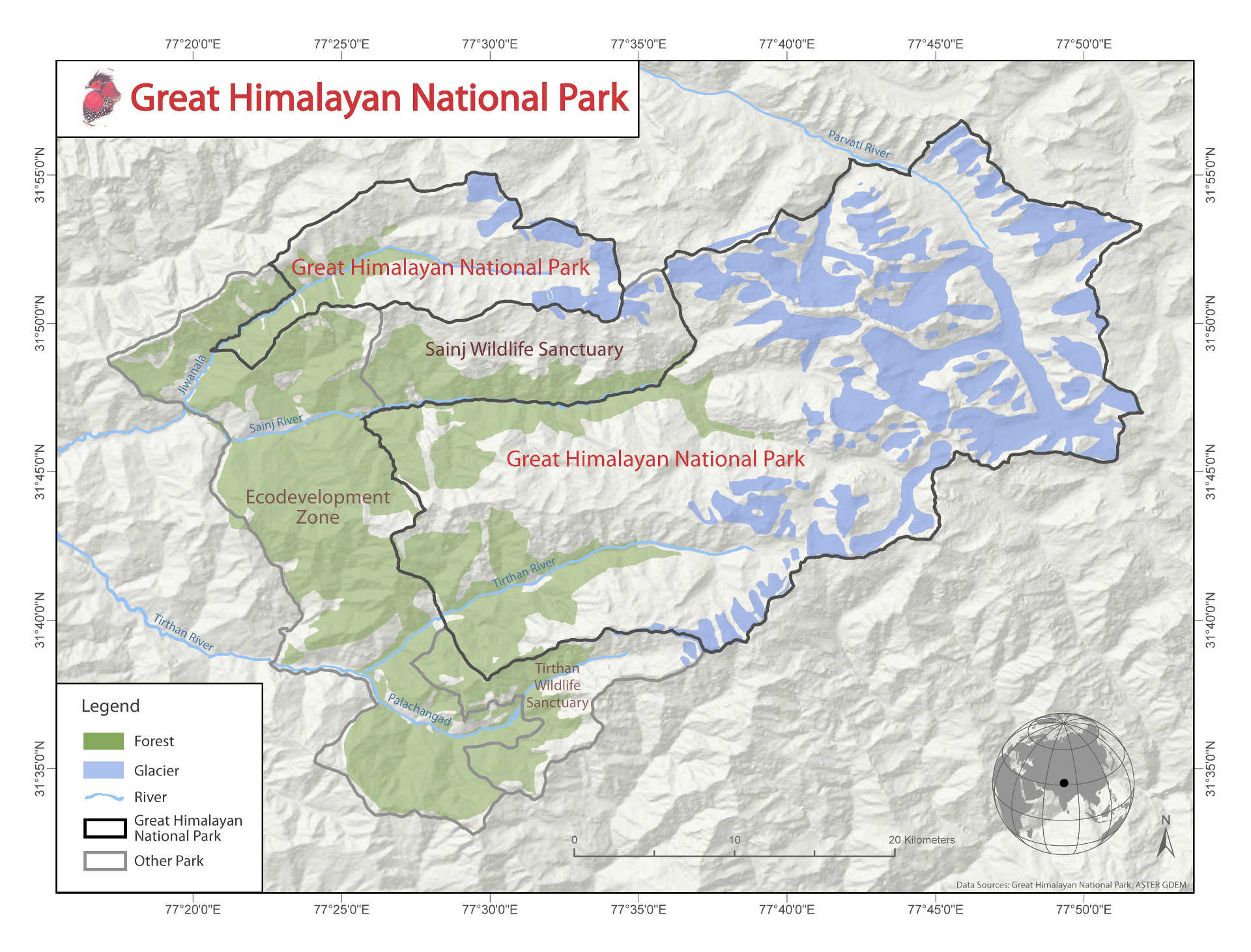 Asia: Great Himalayan National Park Conservation Area, India